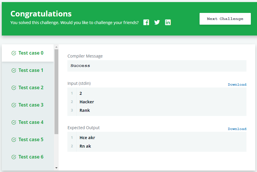 day 6 let's review hackerrank solution